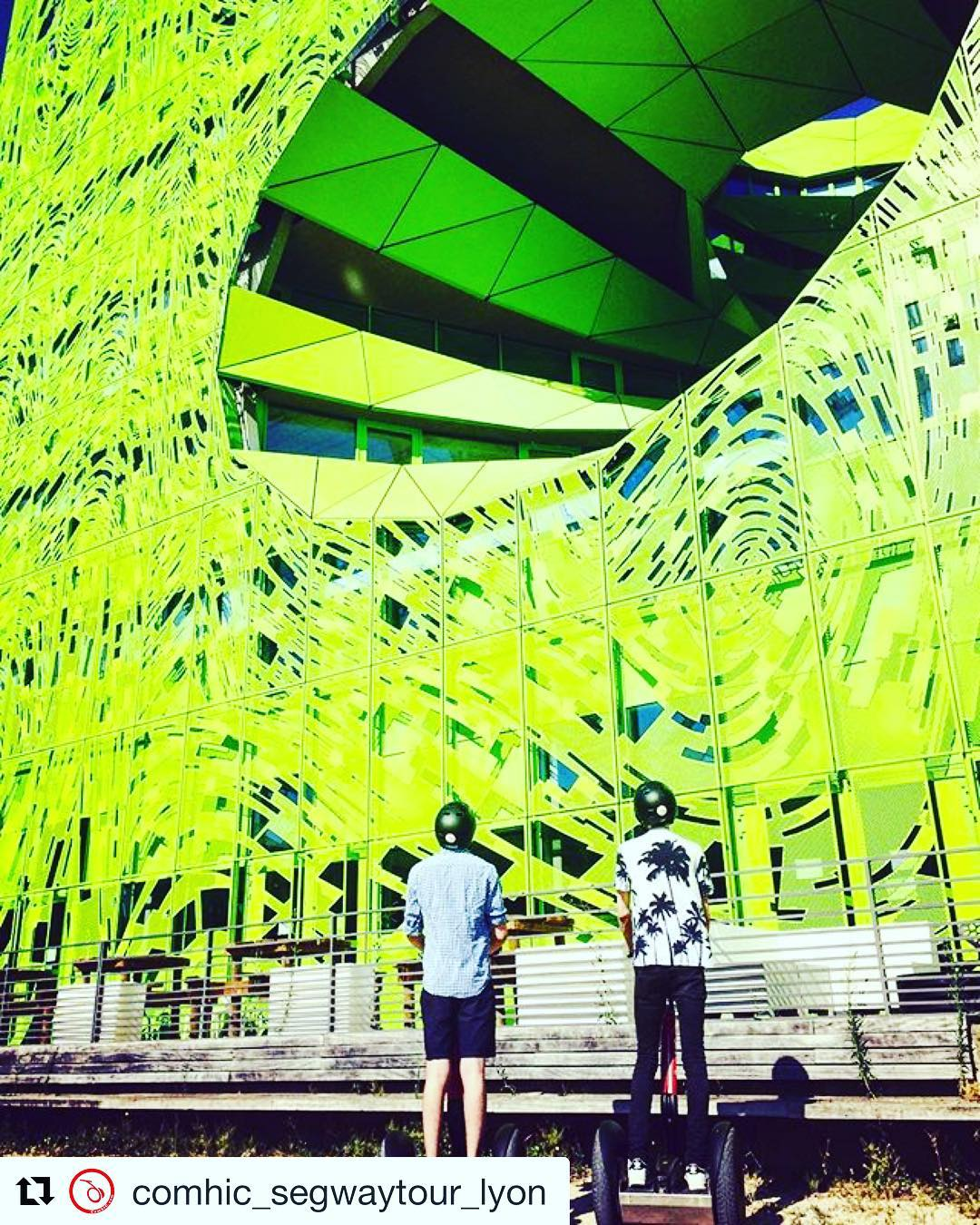 Segway tour of the day is in Lyon France  with this amazing Instagram ready stop on their Segway tour. . . @comhic_segwaytour_lyon ・・・ Balade insolite à Confluence  ... Vous aussi partagez vos coins préférés #️⃣📸 ...