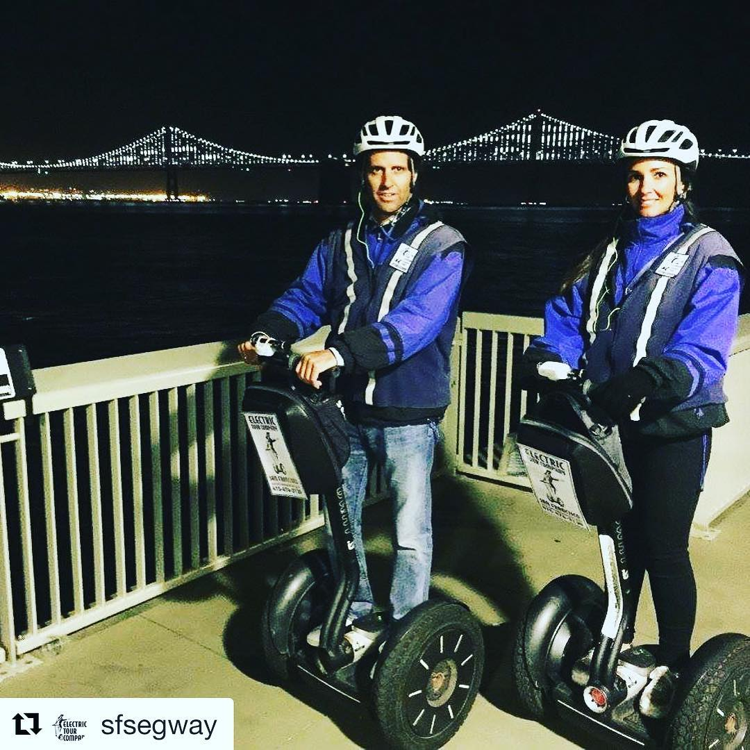 Segway night tour in San Francisco with stunning views of the Bay lights installation on the Bay Bridge. The Electric Tour Company is one of over 700 segway companies on the world listed on Segway-tours-worldwide.com . . @sfsegway ・・・ See the city at night.  Book your San Francisco nighttime Segway tour and you will get to enjoy @ferry_building the Embarcadero and @fishermanswharf . . . . .