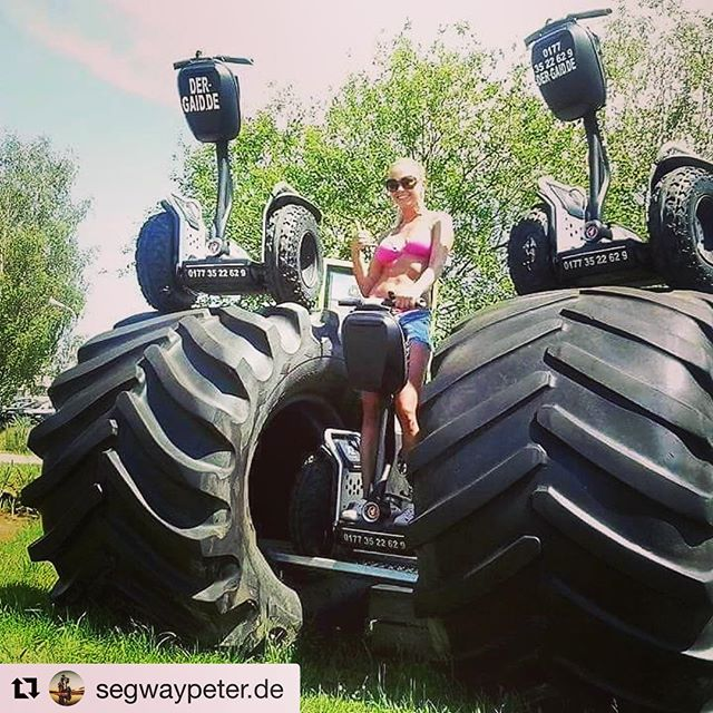 If those are 2 segway x2 models the slightly larger version must be a segway x200! No matter the size it's always fun to get out and ride a segway. Have a fun weekend gliding. . . @segwaypeter.de ・・・ Beste Segway-Touren im mit www.segway-peter.de
