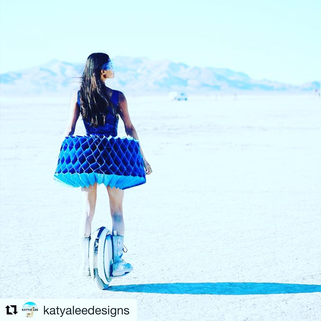 Ninebot one looks like one cool way to experience Burning Man . Will you be gliding through the playa in Black Rock City later this month? . . @katyaleedesigns ・・・ Not long left to find your costumes and express yourselves!! by