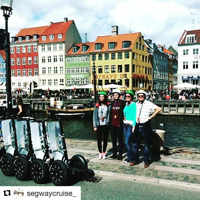 Copenhagen Denmark 🇩🇰 is today's segway tour destination of the day. Glide with Segway Cruise thought the streets of this incredible city. . @segwaycruise_ ・・・ Thanks for a lovely Segway Cruise 2 hour tour through Copenhagen! Hope to see your lovely family again :)