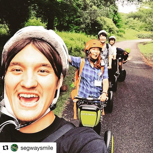 Today's Segway selfie is from Japan  go find your segway smile on one of 700 Segway and Ninebot tours in the world. . . @segwaysmile ・・・