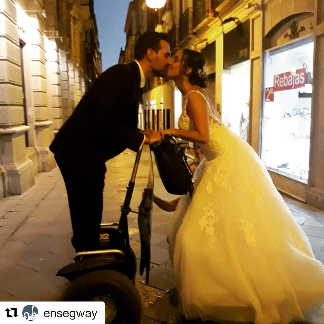 Romantic segway photo of the day is in Granada Spain  Send us your best romantic photos while gliding and we will post the best . . . @ensegway ・・・ Haz tus fotos y una aventura en Segway