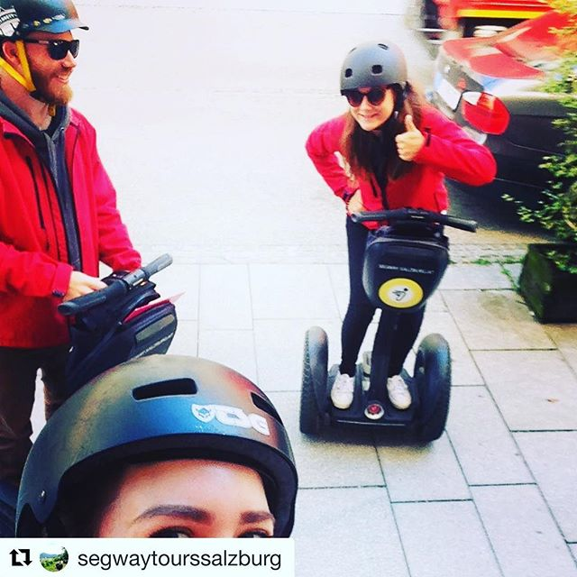 Segway selfie of the day is from Salzburg Austria 🇦🇹 get your Segway selfie 🤳 at one of over 700 Segway tours worldwide . . . @segwaytourssalzburg ・・・ So vü motiviert 😎