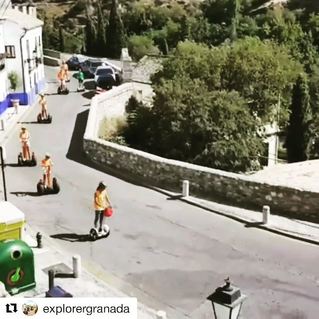 Segway tour video of the day is from Granada Spain  Don't delay get outside and explore on a segway tour today choose from 700+ segway and Ninebot tours @segwayworldwide . . @explorergranada ・・・ with is something else!  . . . . #spain️