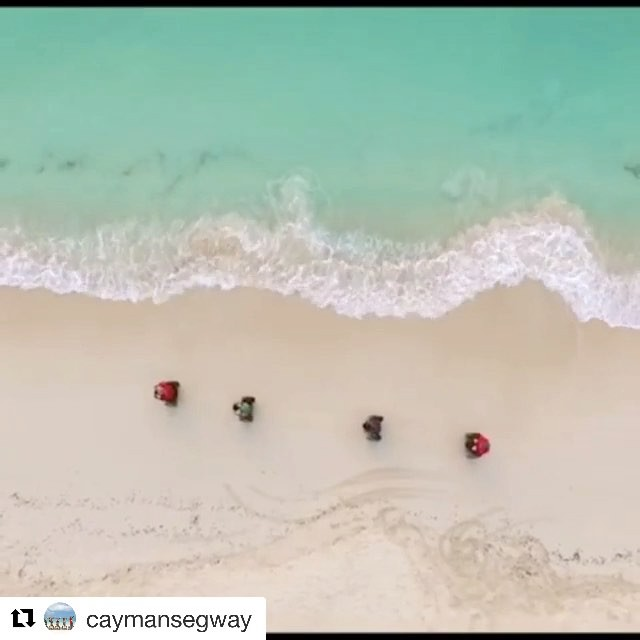 Best segway beach destination of the day - 7 mile beach in Grand Cayman and not a bad drone shot either. Let's go x2 segway riding on the beach  today! Who wants to go? . . @caymansegway ・・・ Join us for the tour of your dreams # local guides # great  vibes!! Seven Mile Beach Cayman!