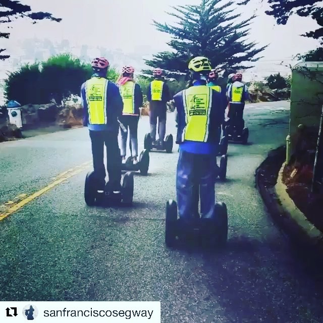 Enjoy this time lapse video of a Segway tour down telegraph hill in San Francisco. Number one tour in San Francisco on TripAdvisor is the Electric Tour Company . . @sanfranciscosegway ・・・ Hyperlapse video of segway tour going down hill from Coit Tower and Telegraph Hill. Climb the hills with us! Some of our summer visitors pictured in front of on an entertaining private segway tour of @fishermanswharf and We offer private tours for 2 to 8 guests and group tours / team building events for 8 to 100 guests. Find out more at privatesegwaytours.com today . . .