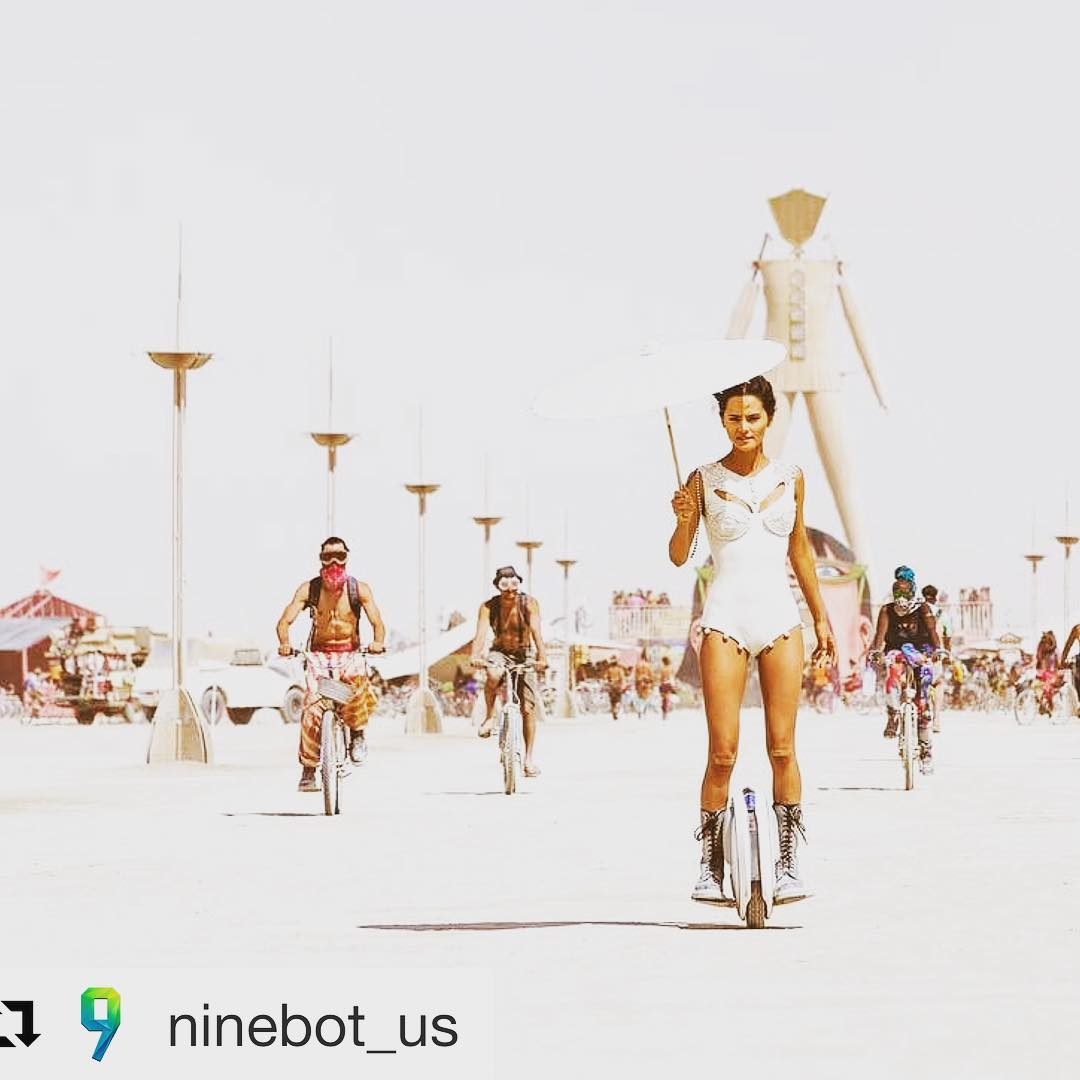 Burning Man festival kicks off this weekend in the Black Rock desert. Lots of Segway's and ninebots are part of the crazy festival backdrop. Glide and burn sounds like a perfect weekend to us! . . . @ninebot_us ・・・ The Ninebot One's futuristic and sleek design is for trendsetters that want to stay ahead of the pack. Make a statement like @katyaleedesigns by clicking the link found in the bio. -  Follow for more: @ninebot_us Head over to: www.ninebotus.com Tag a friend below ~