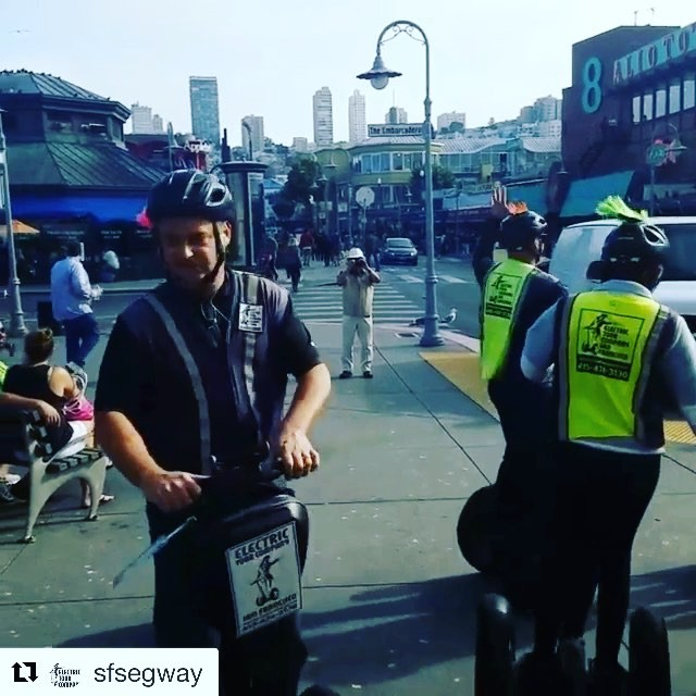 Team building dance moves on Segway's in San Francisco CA USA  the San Francisco Electric Tour Company offers team building , scavenger hunts and segway olympics. . . @sfsegway ・・・ Our scavenger hunt segway tour having a dance party! . .
