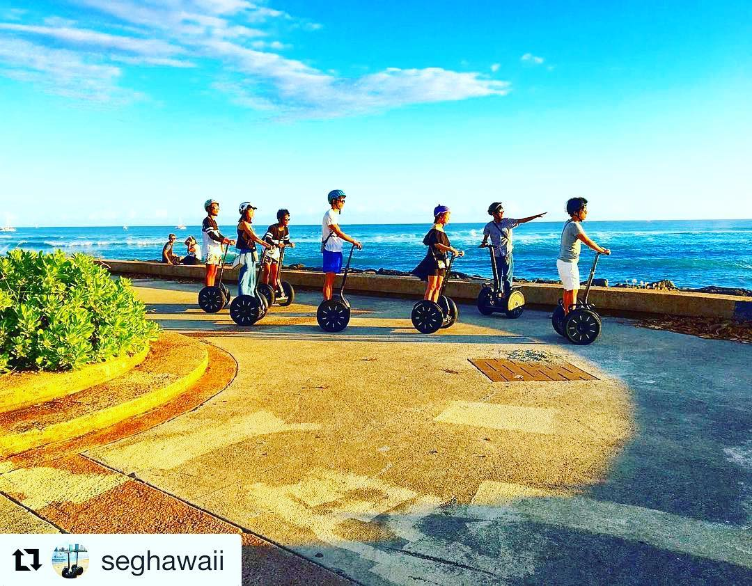 Aloha from the best segway tour beach view of the day. Hawaii never disappoints with these amazing views! . . @seghawaii ・・・