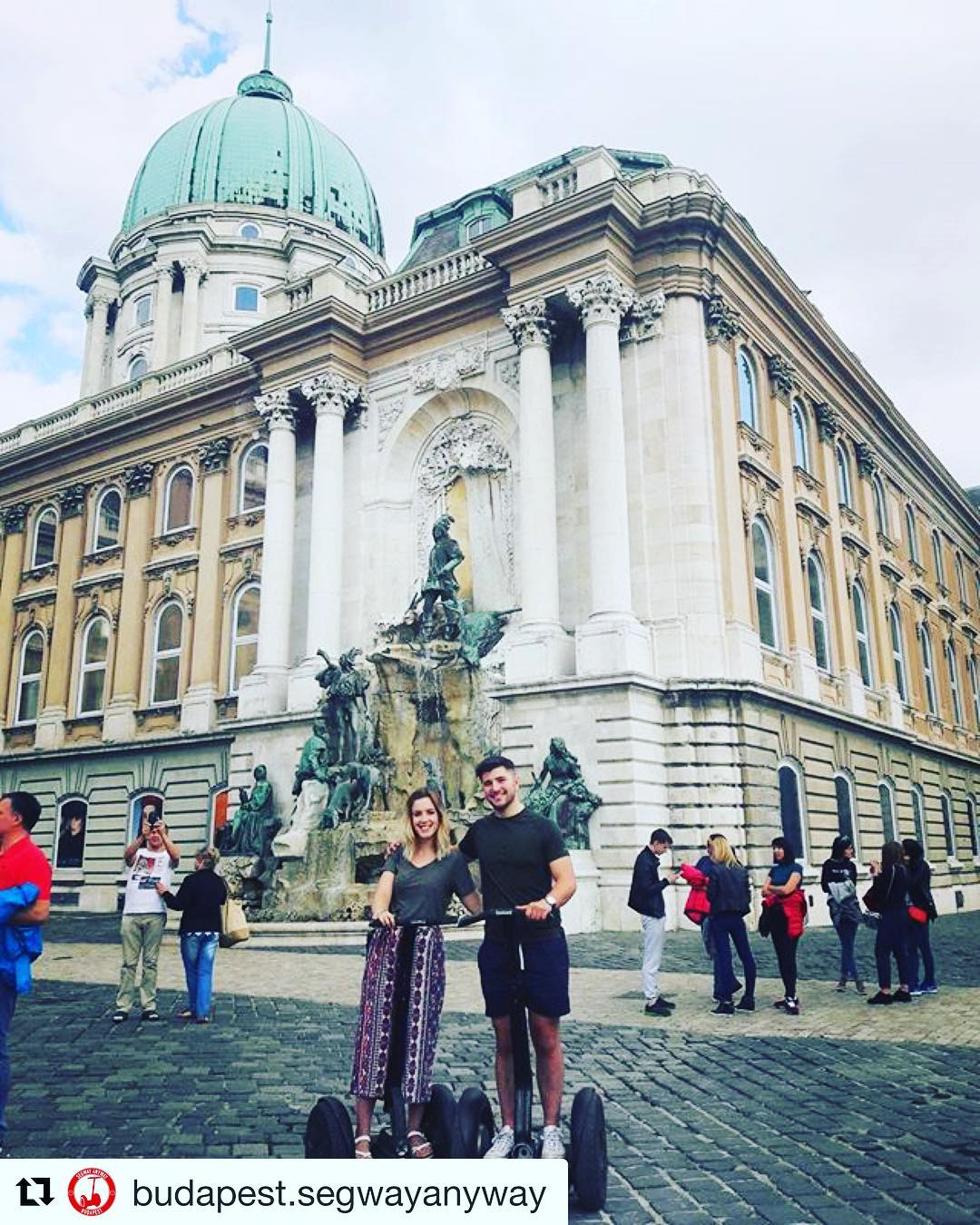 Check out the sights of Budapest including Buda Castle on an amazing guided Segway tour. @budapest.segwayanyway ・・・ Our happy tourists exploring Buda Castle   Come and join us as well
