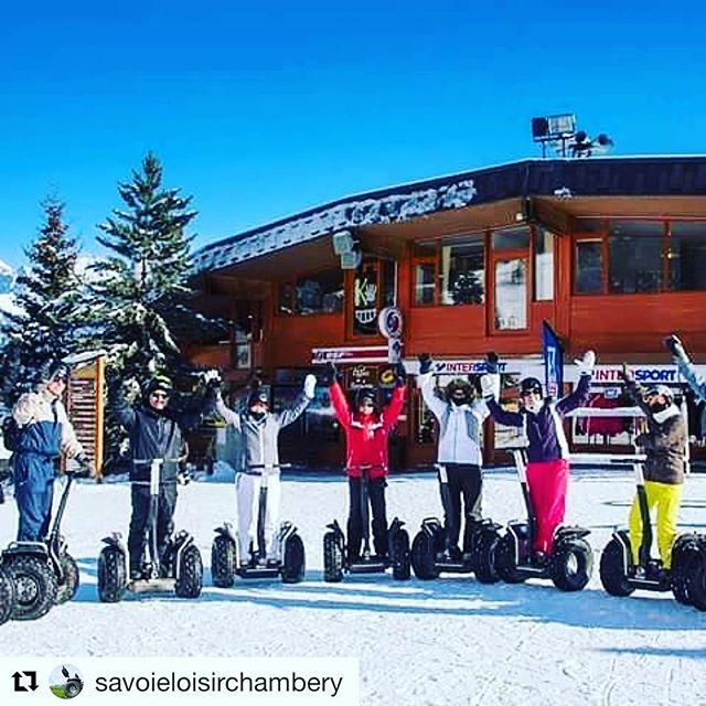 Segway in the snow. Winter ️ is coming .  @savoieloisirchambery (@get_repost) ・・・ l'hiver arrivé testez le Segway sur la neige. Valloire, Karellis.
