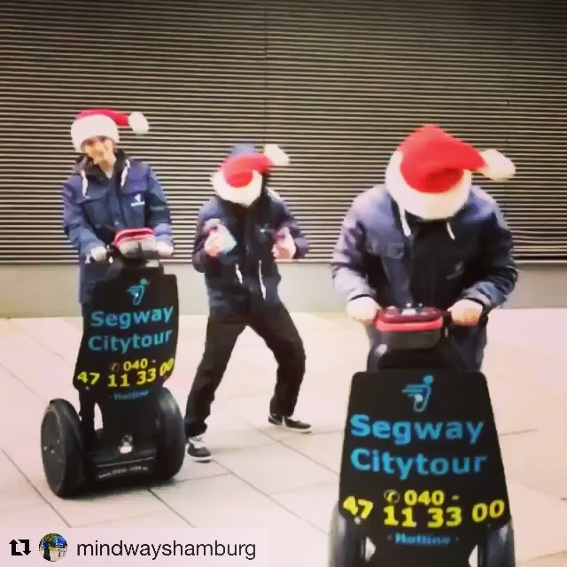 Get in the holiday spirit with the Segway crew from Hamburg Germany  . . @mindwayshamburg (@get_repost) ・・・ Und es geht wieder los 🤶🏼🏼