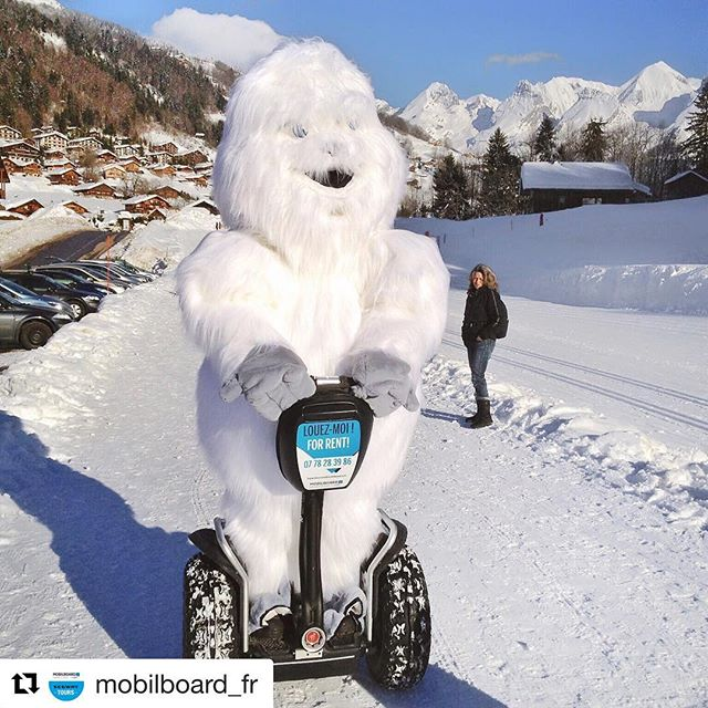Who is riding s Segway today? Yetis of course!! Happy holidays from the gilded at in France . . . @mobilboard_fr ・・・ Si même les Yétis aiment faire du Segway…  On vous souhaite de très belles vacances ️ ———— If even Yetis like to ride a Segway ...  We wish you wonderful holidays ️ ————