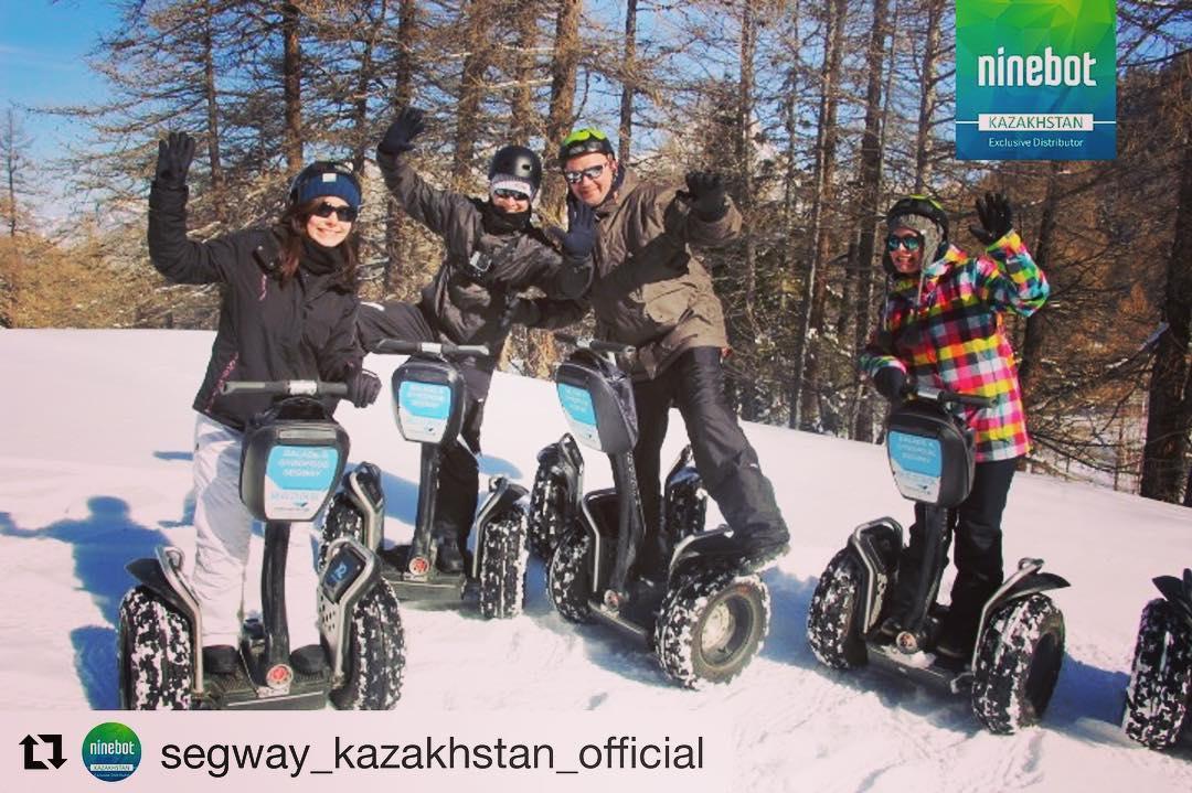 Winter fun in the cold and snow ️ on a Segway or Ninebot  @segway_kazakhstan_official (@get_repost) ・・・ Несомненно, в теплый сезон от поездок на электрскутере можно получить максимальное удовольствие. Однако это не означает, что с наступлением морозов об экологичном сегвее следует забыть – его и зимой можно эксплуатировать, если делать это грамотно, с соблюдением некоторых советов специалистов и оставаясь в рамках здравого смысла. Вы сможете отлично покататься и в мороз в соответствующей экипировке  WWW.SEGWAY.KZ