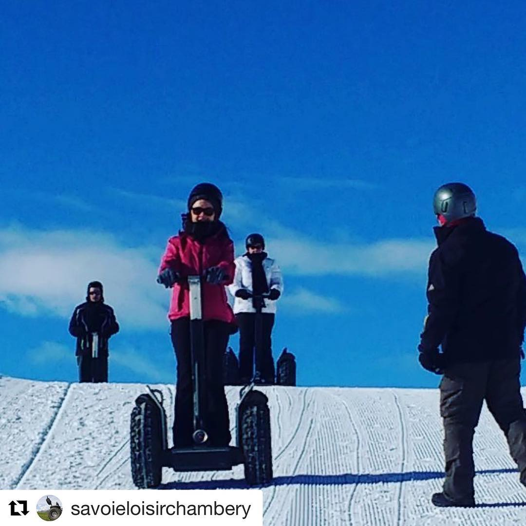 Winter ️ Olympics are happening. Here's to playing and competing in the snow every day! Anybody up for Segway ski hill  racing? .. @savoieloisirchambery ・・・