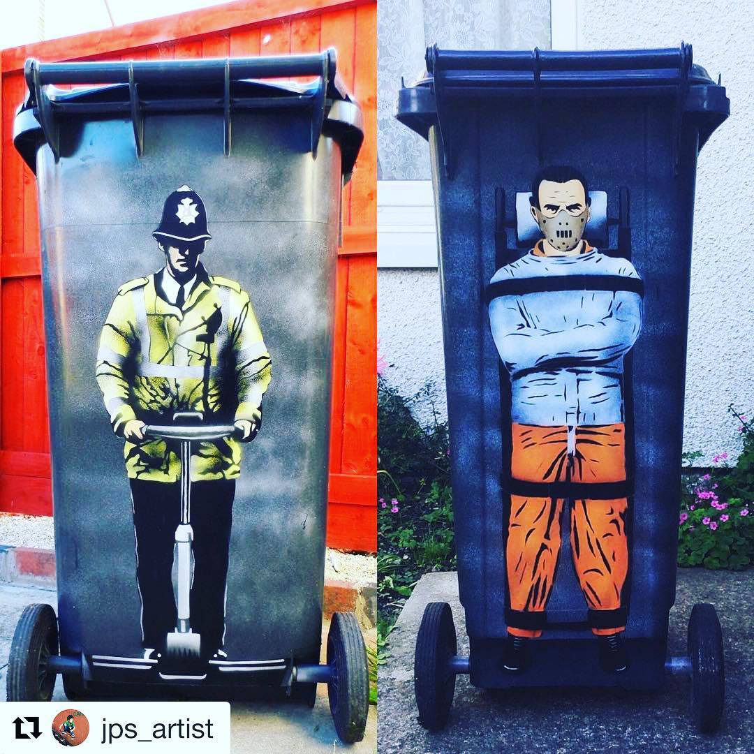 Jps Segway cop has a new friend. Choose your friends carefully 🤓. seglife .. @jps_artist ・・・  JPS Segway cop 2014 and Hannibal lecter 2015