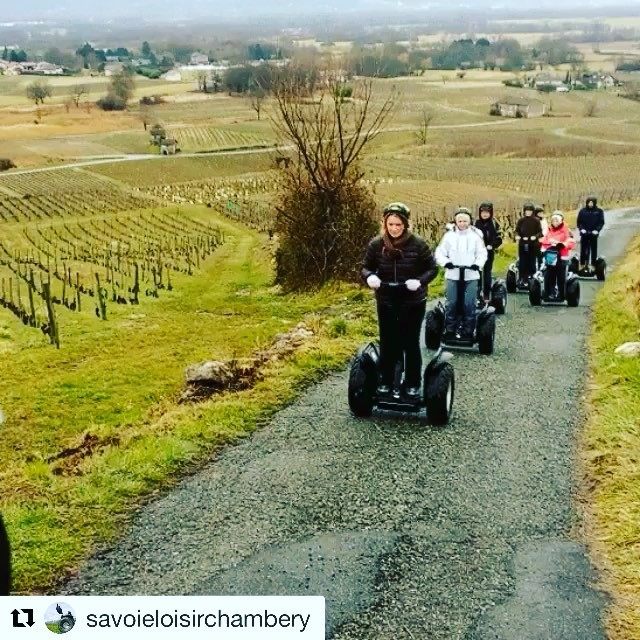 Explore the French countryside wine  regions by segway - sounds like a perfect day to us. . . @savoieloisirchambery ・・・