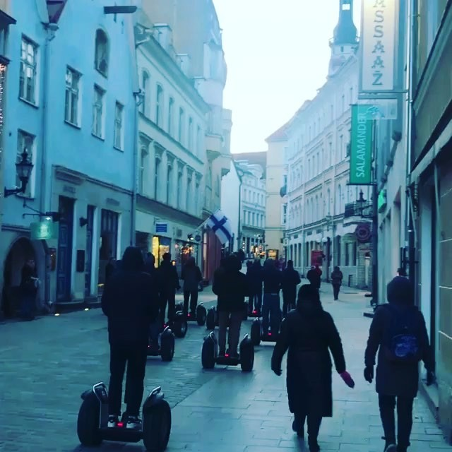 Get out see the sights - book a spring Segway tour in Tallinn @segwaytallinntours ・・・ Red lights  Bachelor party tour for Cambridge University alumni!