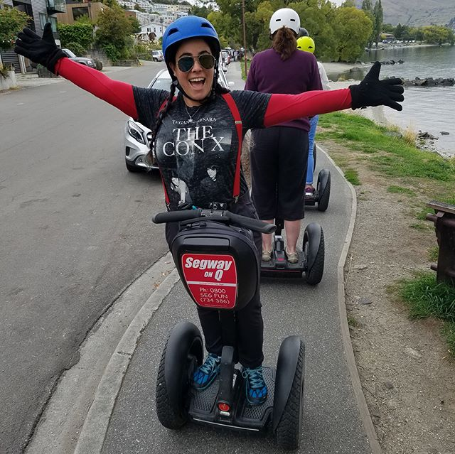 San Francisco Segway guides @sfsegway Melanie and Nic continue their 🌎 worldwide Segway  tour - today at Segway on Q @segwayonq in Queenstown New Zealand - Thanks for hosting our tour guides. . . .