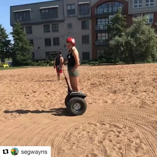 Here's to getting your feet in some sand this summer @segwayns with ・・・ Some people have mini zen gardens, some people have segways and sandlots🤷🏼‍♀️ @mywaterfrontns