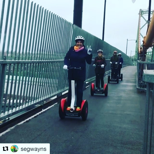 Not every summertime tour is in the sunshine ️ get out and seg rain ️ or shine @segwayns ・・・ Even in the rain people just gotta get their Segway fix!!