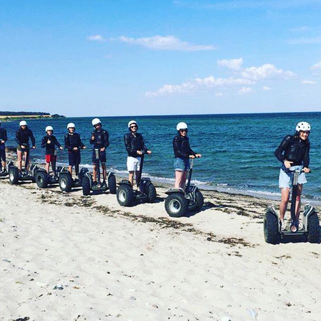 Beach day and Segway day combined fun in . @segwaylangeland ・・・ Segway on the Beach ️😎. #