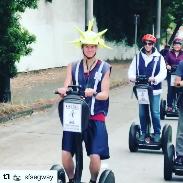 @sfsegway ・・・ Here at @sanfranciscosegway we really know how to party! . Get your Segway dance moves on 1-415-474-3130 or online electrictourcompany.com Tours start in @fishermanswharf and also in @goldengatepark . . . . .