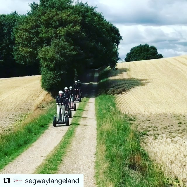 These guests are dressed for battle with an off-road adventure in Denmark 🇩🇰 @segwaylangeland ・・・ Det er stadig sommer og lækkert vejr til at køre Segway.
