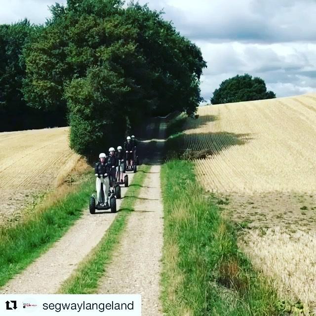 These guests are dressed for battle with an off-road adventure in Denmark 🇩🇰 @segwaylangeland ・・・ Det er stadig sommer og lækkert vejr til at køre Segway.