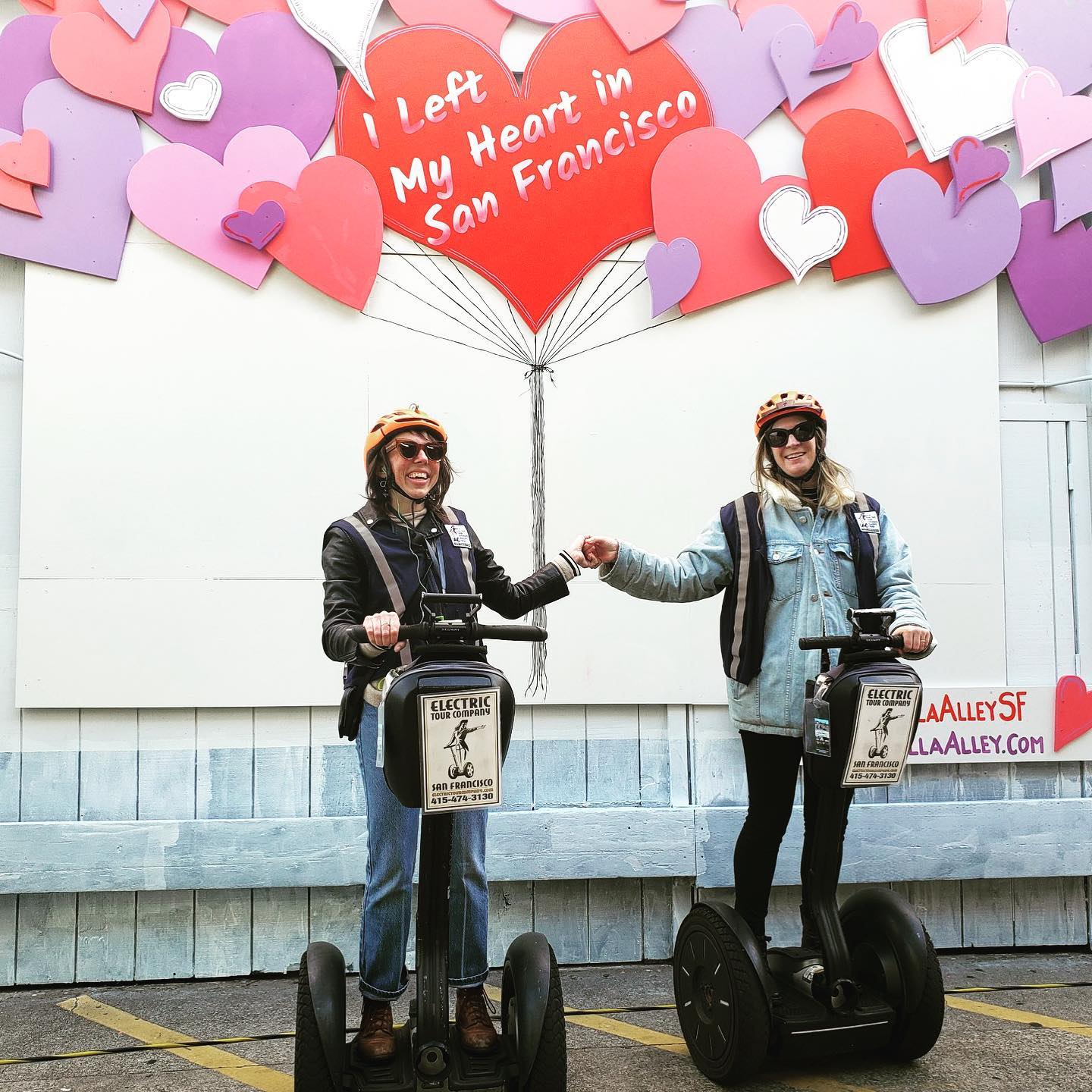 Get ready for Valentines Day. Perfect Segway Tour Instagram pics @umbrellaalleysf in San Francisco's @fishermanswharf . .
